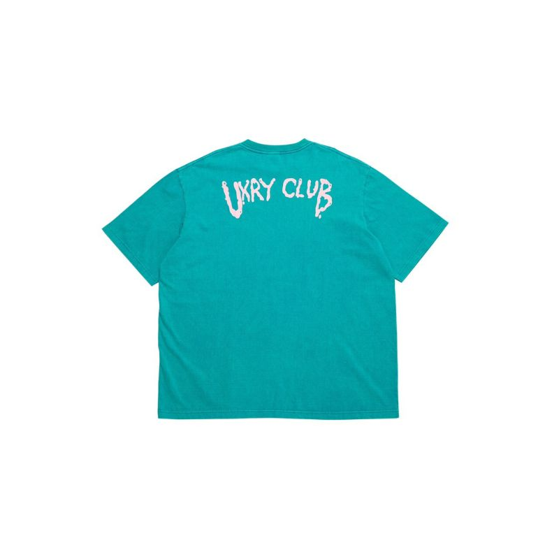 UXRY  LOGO  TURQUOISE RELAXED TEE