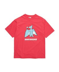 ONE DRINK AND WE GO HOME DINOSAUR TEE PINK