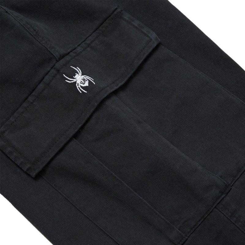 FUXURY SPIDER BLACK WASHED CARGO PANTS