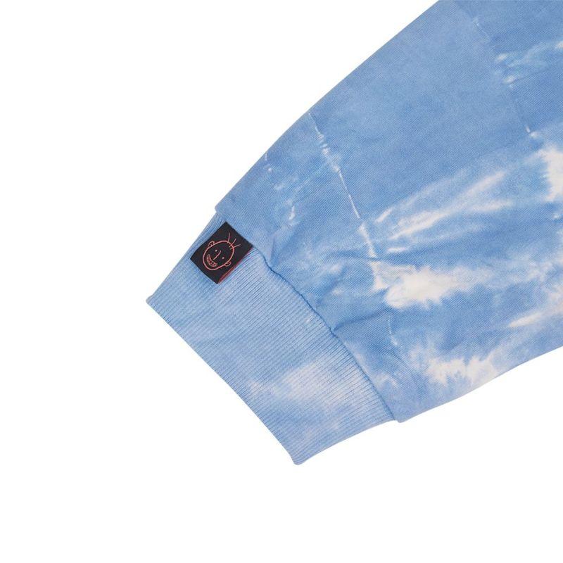 UXRY CLUB STENCIL ON THE BLUE SKY TIE DYE HOODIE