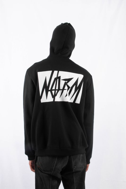 NORM SMILEY FUCK FULL ZIP HOODIE BLACK