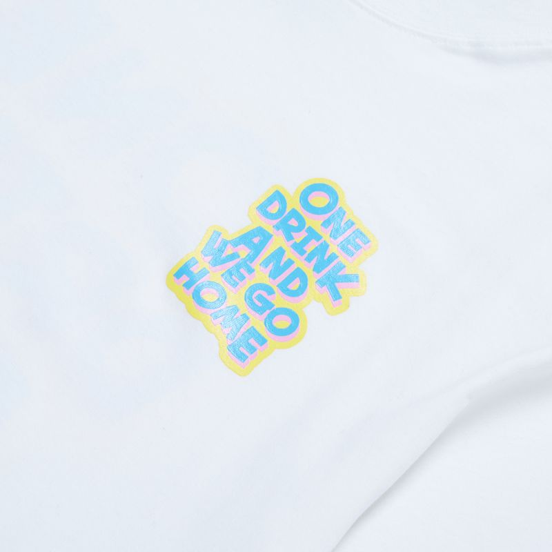 ONE DRINK NEW LOGO TEE WHITE/BLUE