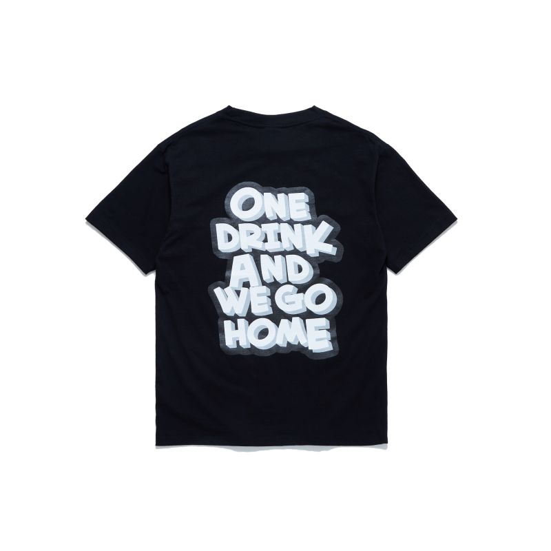 ONE DRINK NEW LOGO TEE BLACK/WHITE