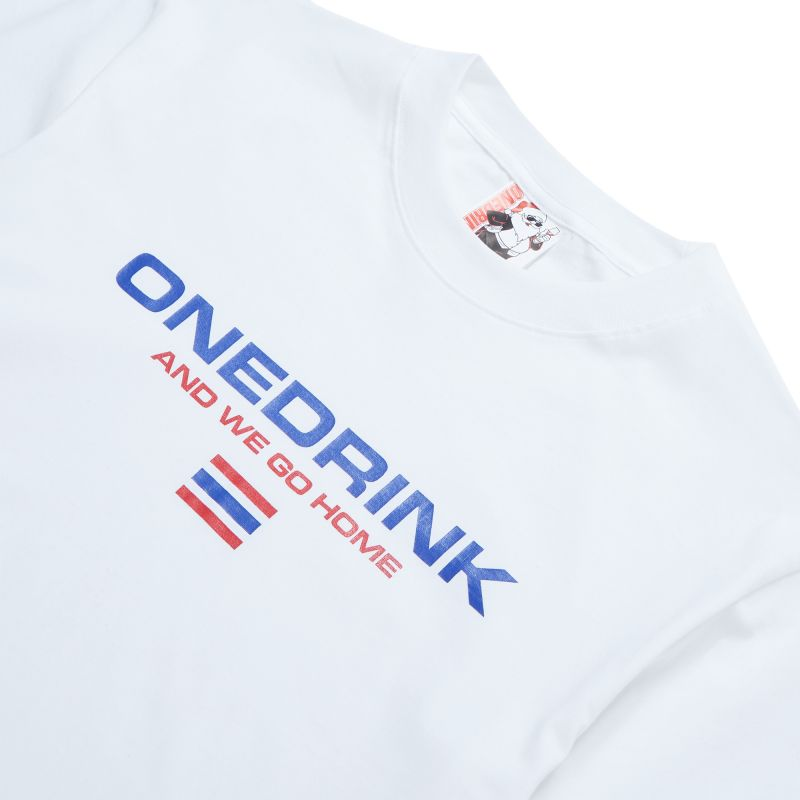 ONE DRINK WALK FROM HOME3 TEE WHITE