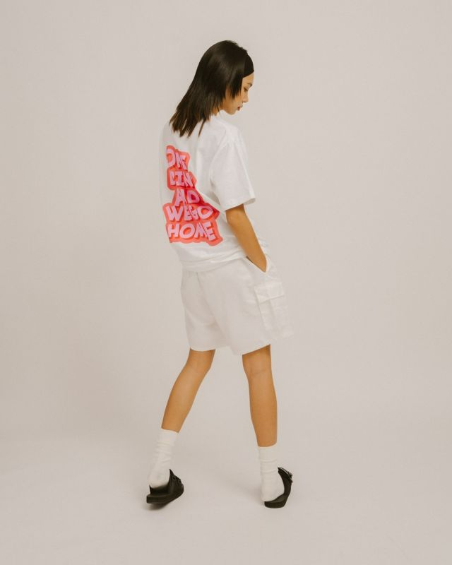ONE DRINK NEW LOGO TEE WHITE/PINK
