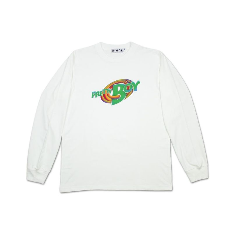 PBG PRETTY JAM L/S TEE WHITE