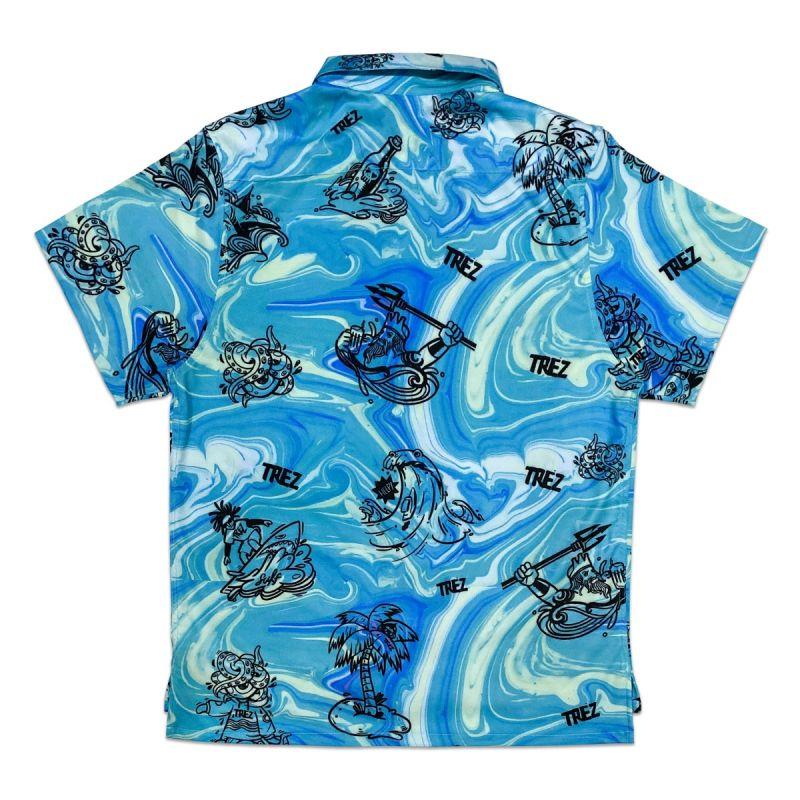 TZ SUMMER BEACH SHORT SLEEVE SHIRT - BLUE