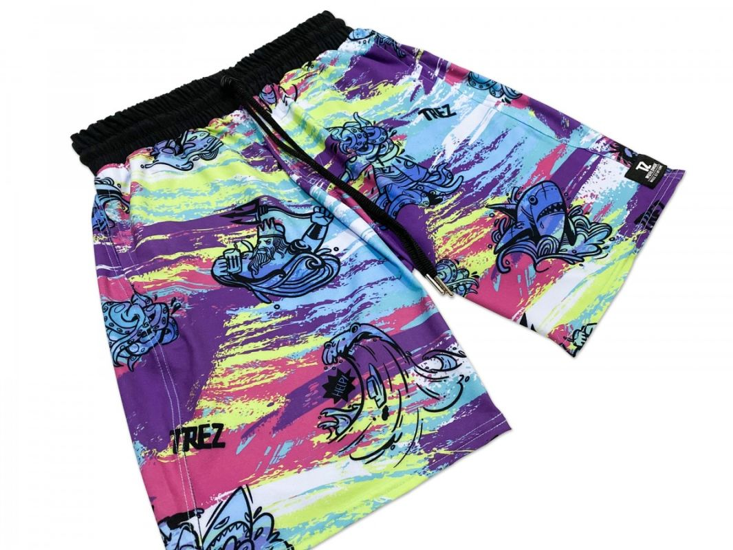 TZ SUMMER BEACH SURF TRUNKS - MULTI COLOR
