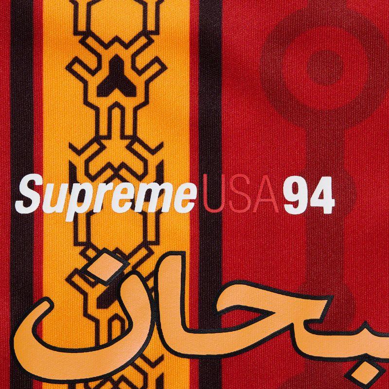 SUPREME ARABIC LOGO SOCCER SHORT RED