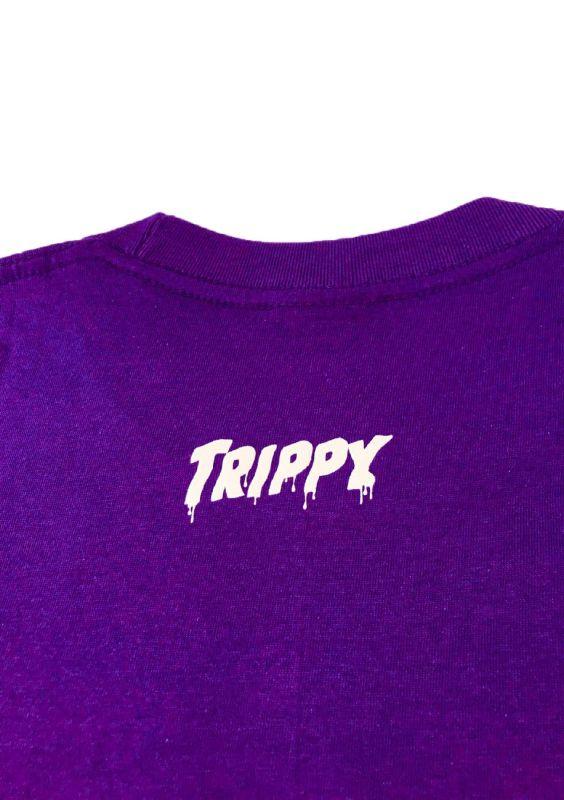 TRIPPY DEAD INSIDE T-SHIRT (PURPLE/BLACK)