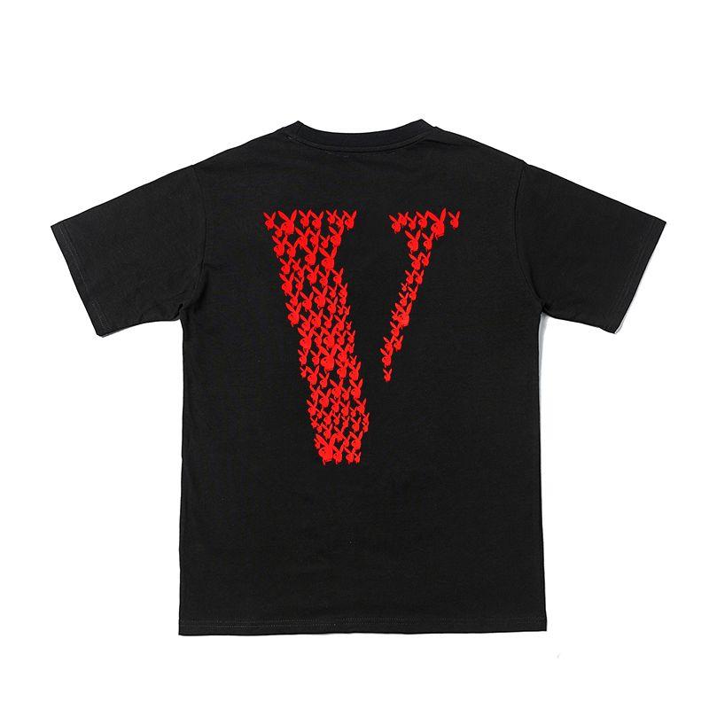VLONE x PLAYBOY CARTI LOGO TEE BLACK (RED)